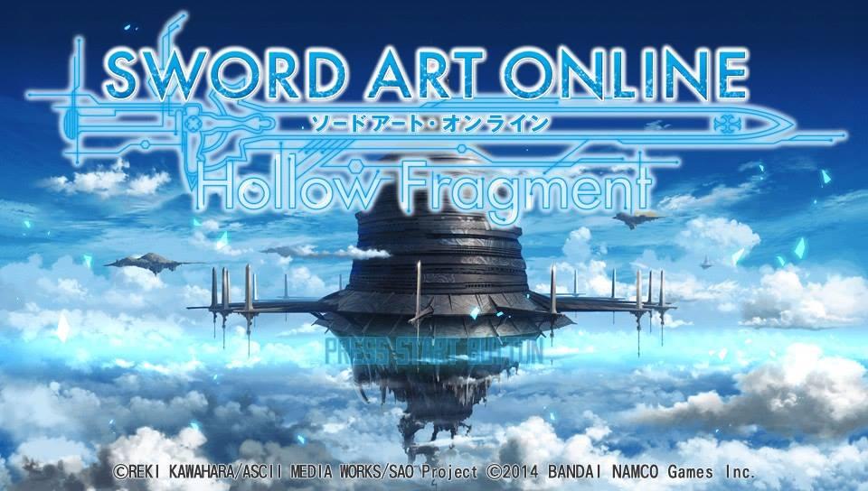 Sword Art Online Hollow Fragment Title Screen Vita