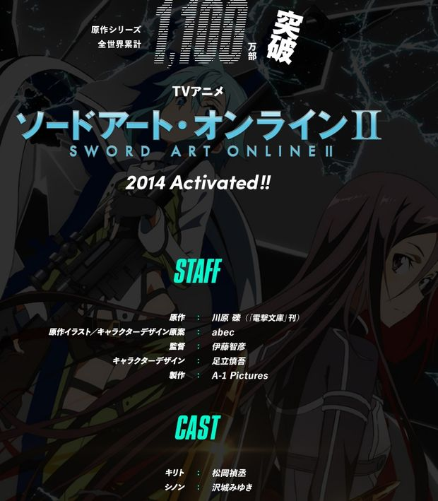 Sword Art Online II Activated