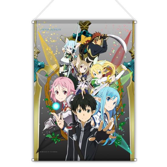 Sword Art Online Sing All Overtures Concert Merchandise and Visual Previewed haruhichan.com Sword Art Online Concert merchandise SAO tapestry 2
