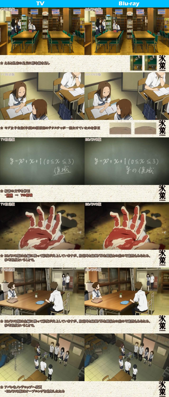 TV vs Blu-ray Comparison Hyouka anime 3