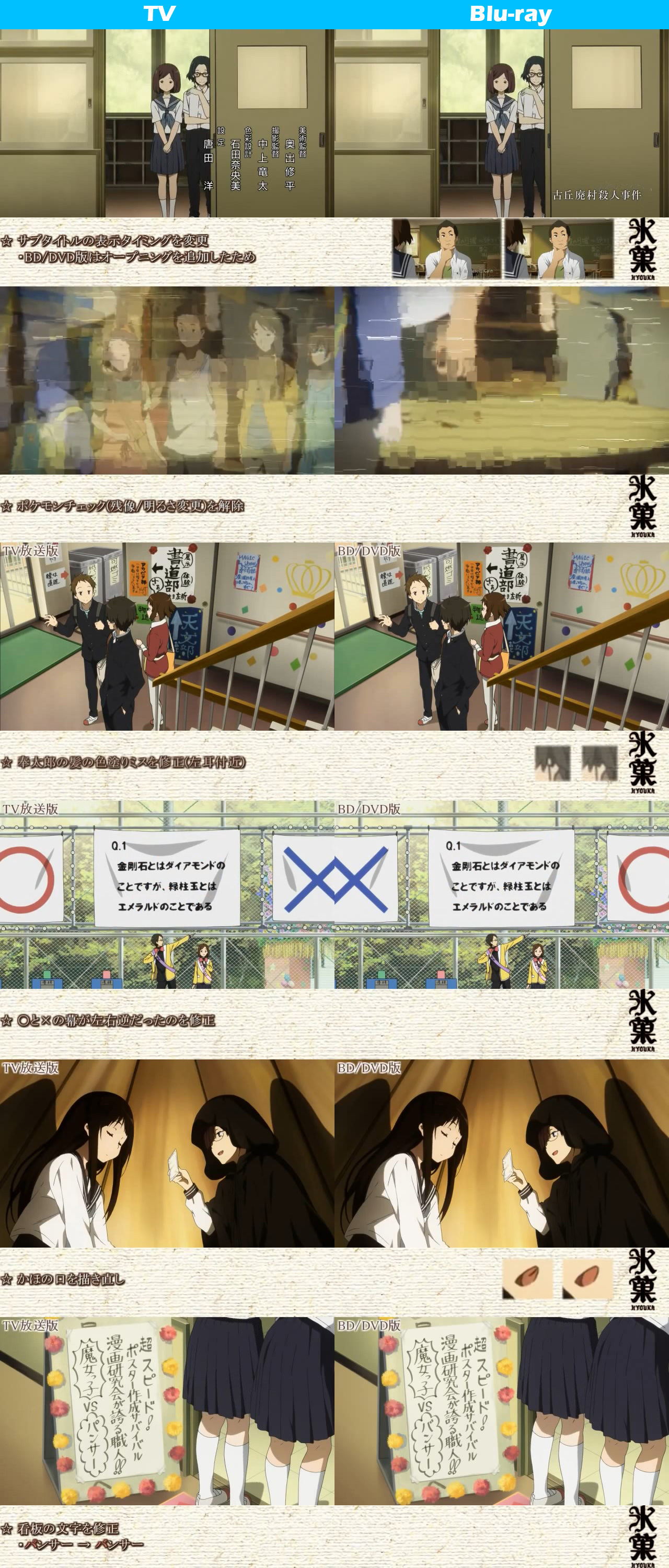 TV vs Blu-ray Comparison Hyouka anime 4
