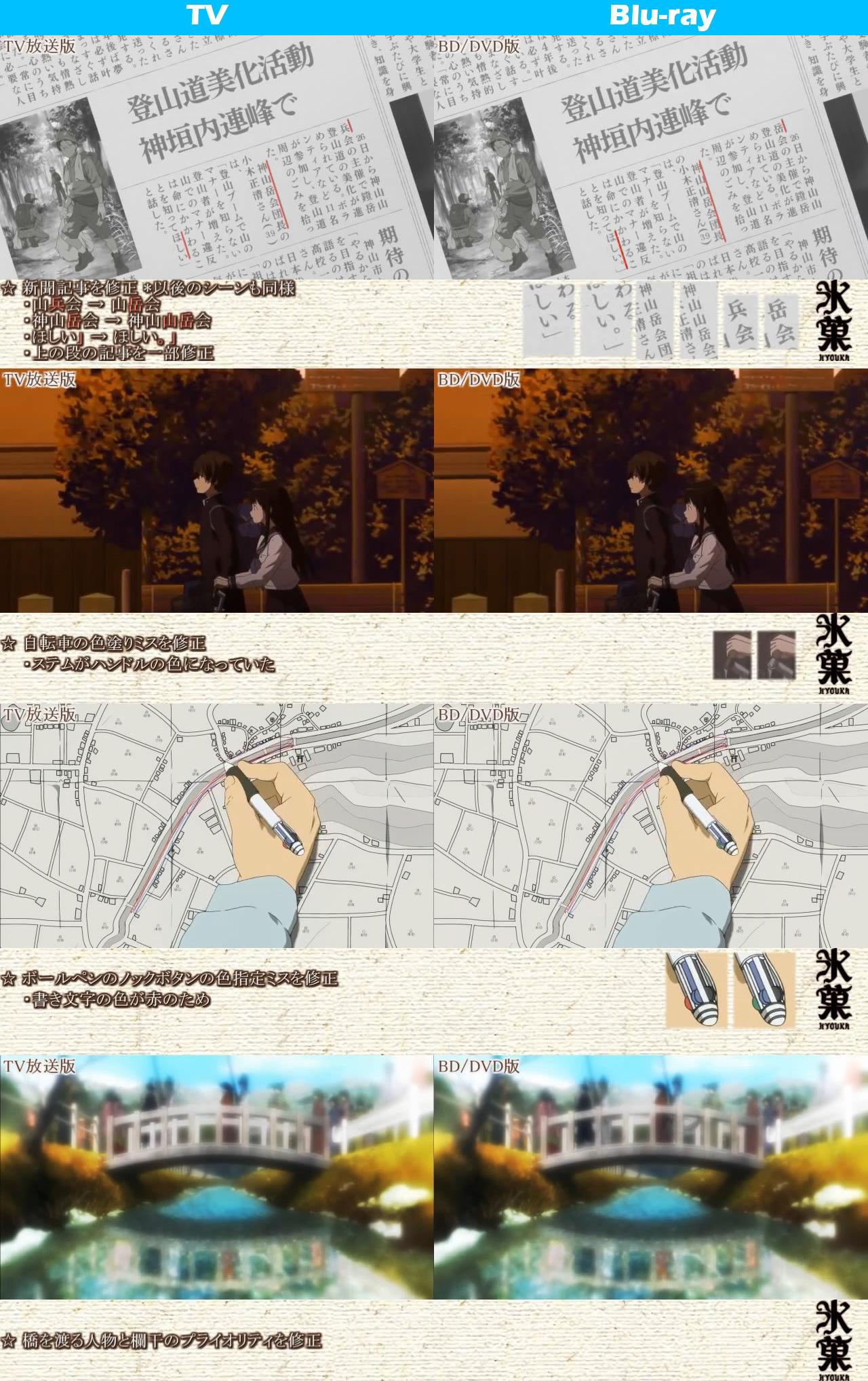 TV vs Blu-ray Comparison Hyouka anime 6
