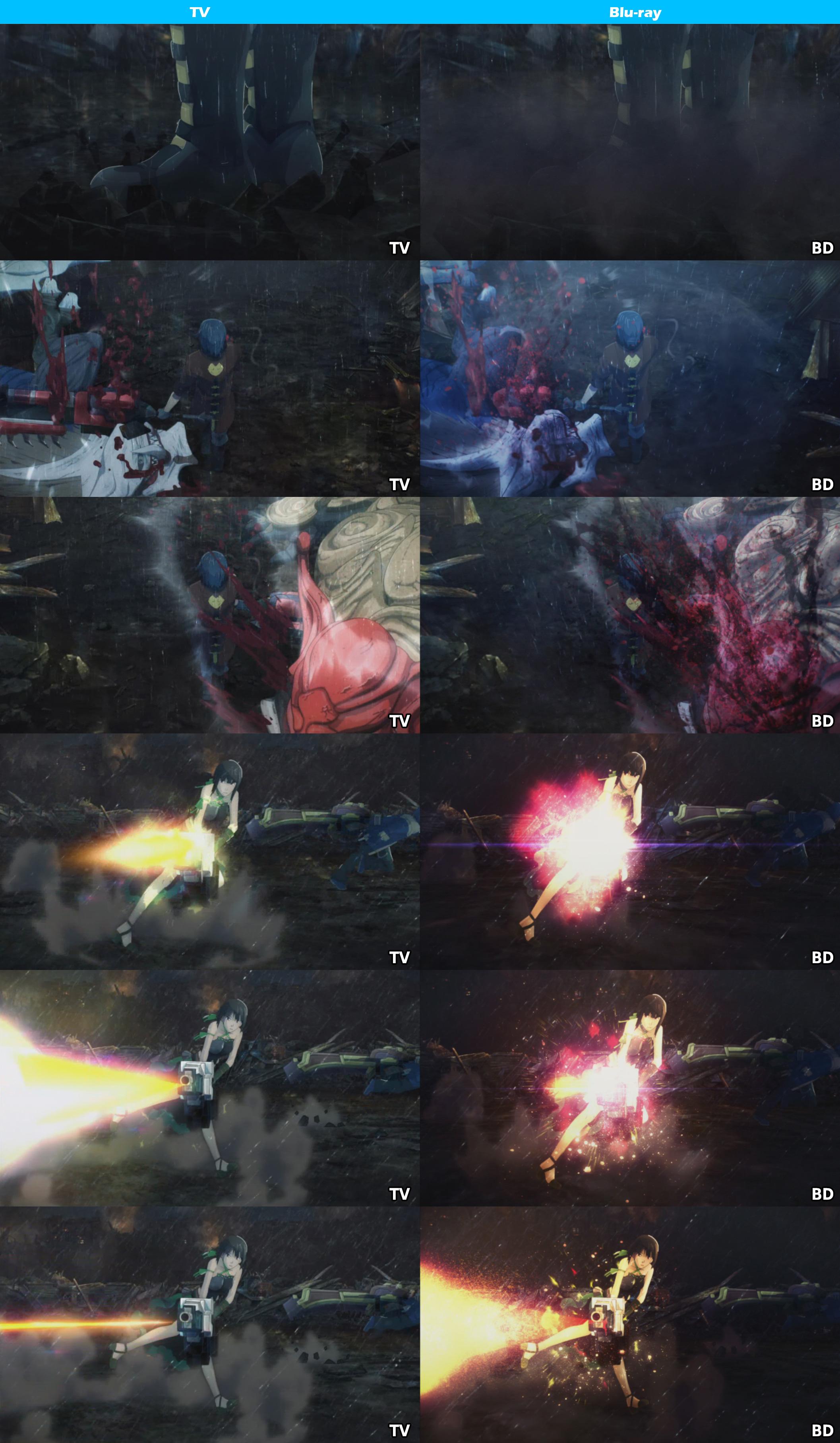 TV vs Blu-ray -God Eater-7