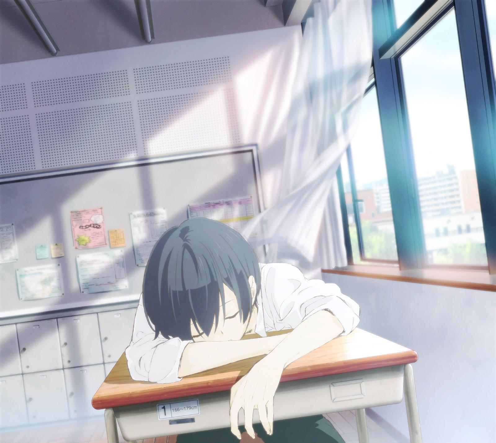 Tanaka-kun wa Itsumo Kedaruge anime visual