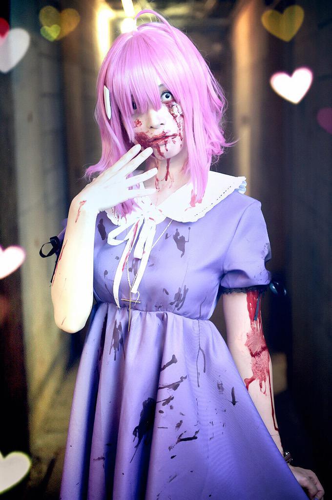 Terrifying Megu-nee Zombie Cosplay Gakkou Gurashi Megumi Sakura anime cosplay 2
