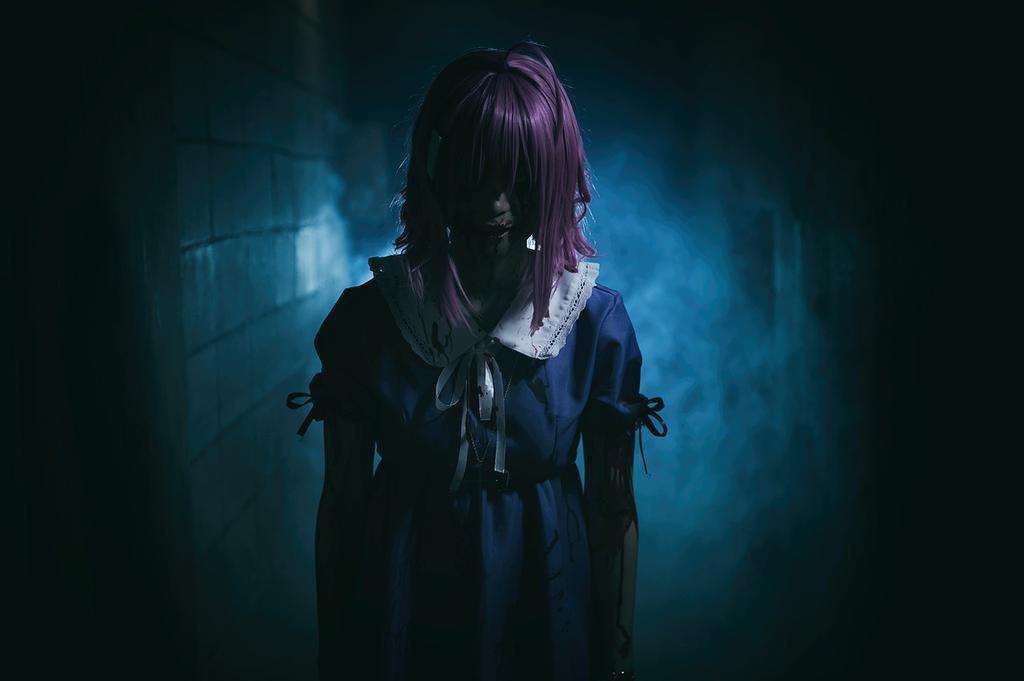 Terrifying Megu-nee Zombie Cosplay Gakkou Gurashi Megumi Sakura anime cosplay 3