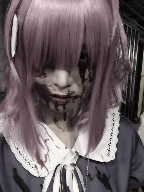 Terrifying Megu-nee Zombie Cosplay Gakkou Gurashi Megumi Sakura anime cosplay