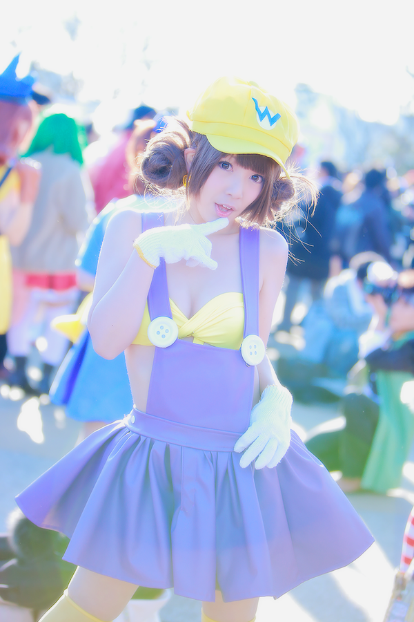 The Cutest Wario Cosplay You'll Ever See Comiket 89 Nintendo 0011
