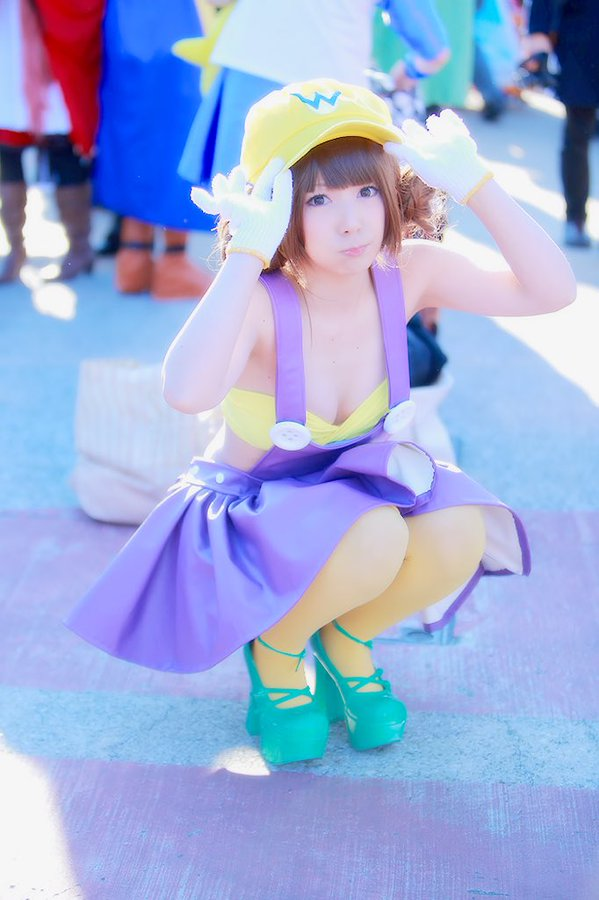 The Cutest Wario Cosplay You'll Ever See Comiket 89 Nintendo 0015