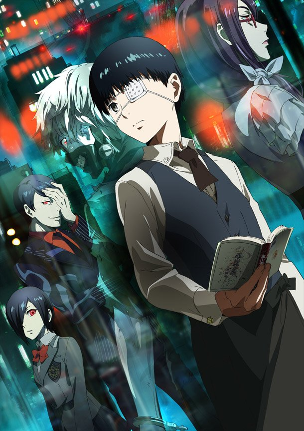 Tokyo Ghoul Official Art Poster Rize Ken Kaneki Touka