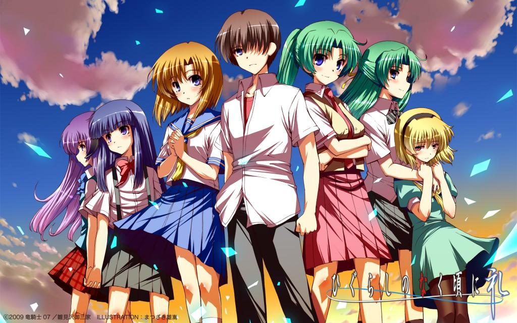 Top 30 addicting anime Top 30 Higurashi no Naku Koro Ni visual haruhichan.com series