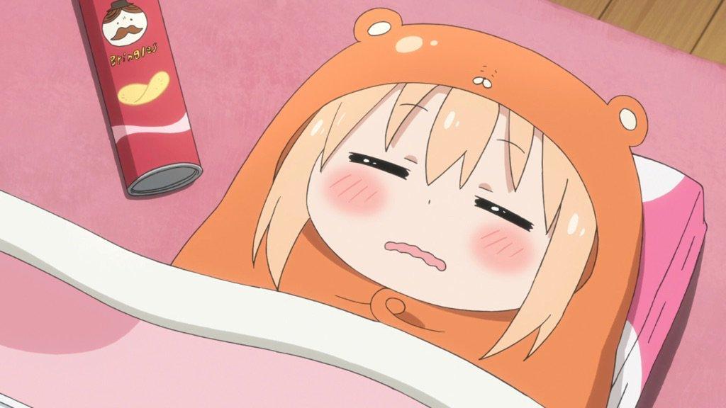 Umaru Fell Asleep before the New Year Countdown
