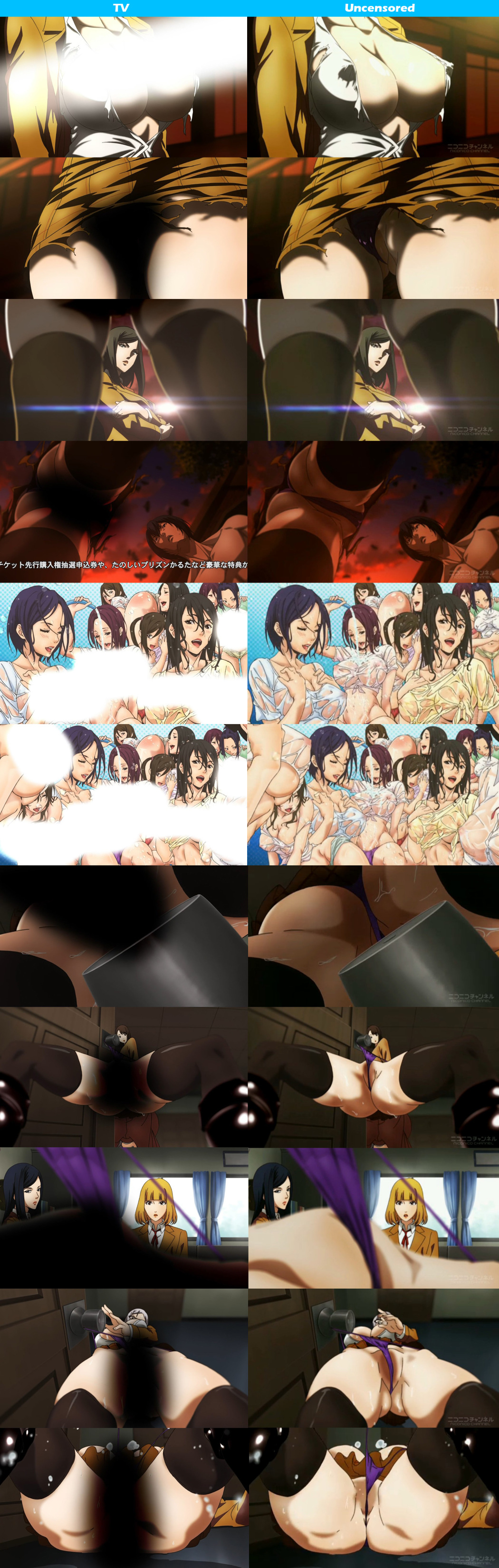 Uncensored Prison School Episode 5-8 Previewed on Niconico 6