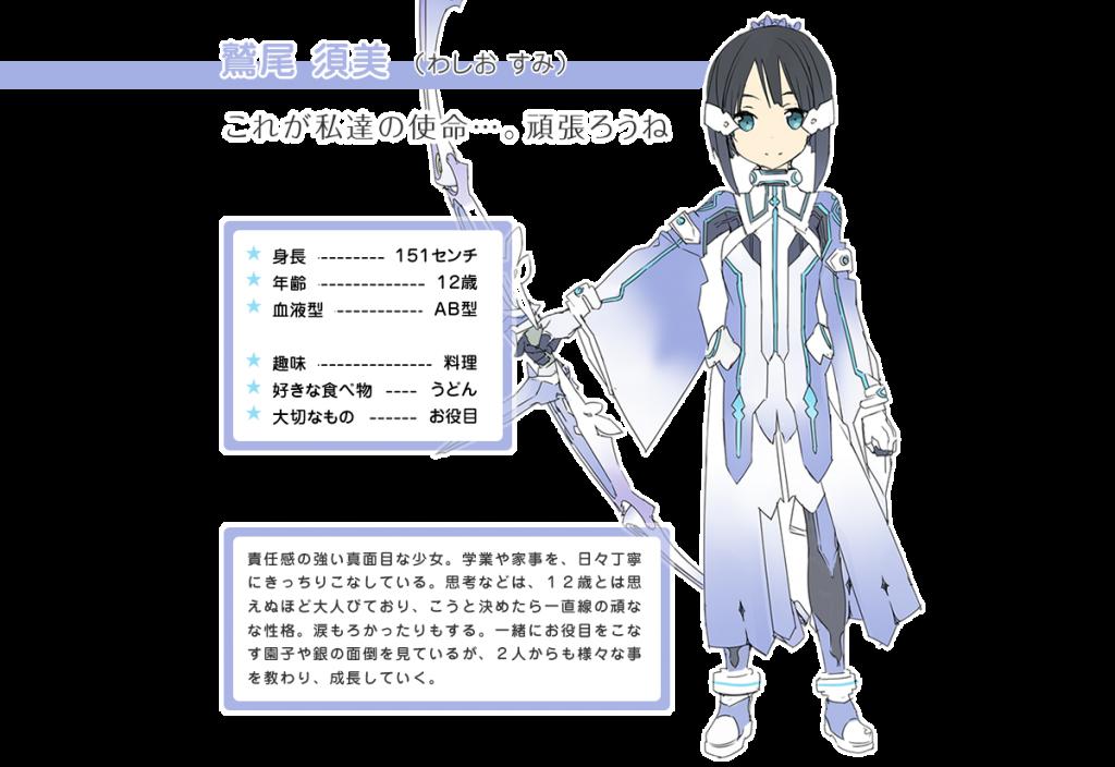 Washio Sumi Yuuki Yuuna Wa Yuusha De Aru anime character designs