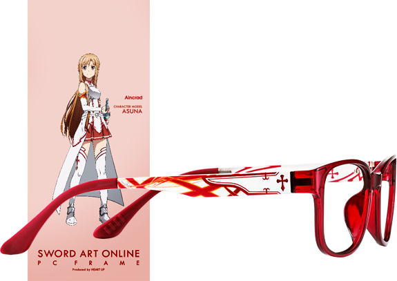 Wear Your Glasses in Style with Sword Art Online Character Glasses haruhichan.com Sword Art Online anime glasses Aincrad Asuna