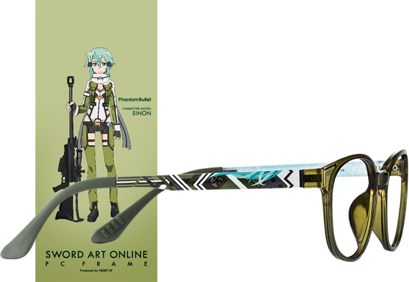 Wear Your Glasses in Style with Sword Art Online Character Glasses haruhichan.com Sword Art Online anime glasses Phantom Bullet Sinon