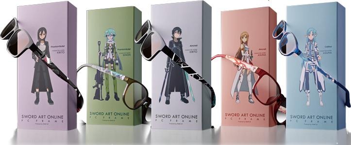 Wear Your Glasses in Style with Sword Art Online Character Glasses haruhichan.com Sword Art Online anime glasses