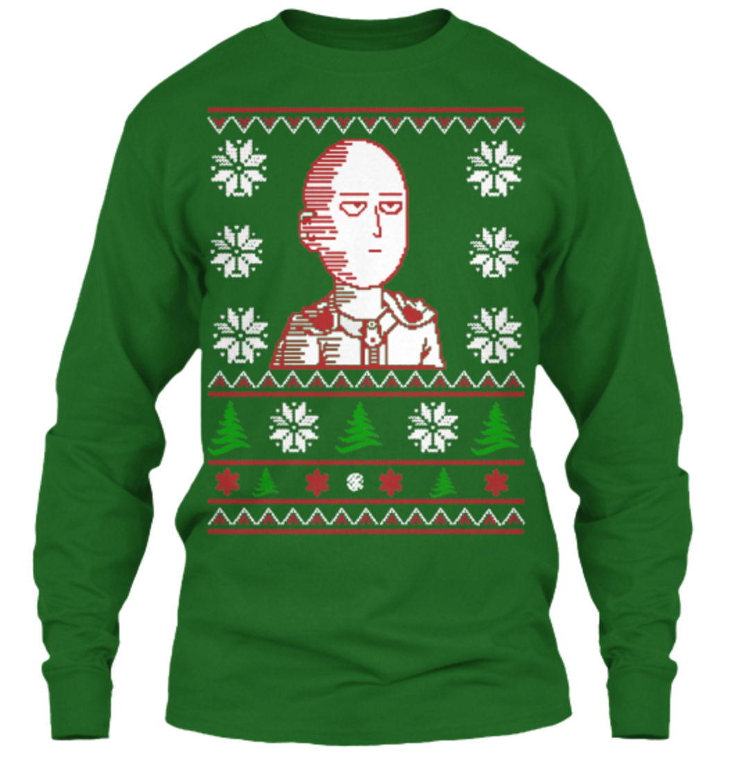 You Can Be an S Rank Hero with This New Saitama Christmas Sweater 11