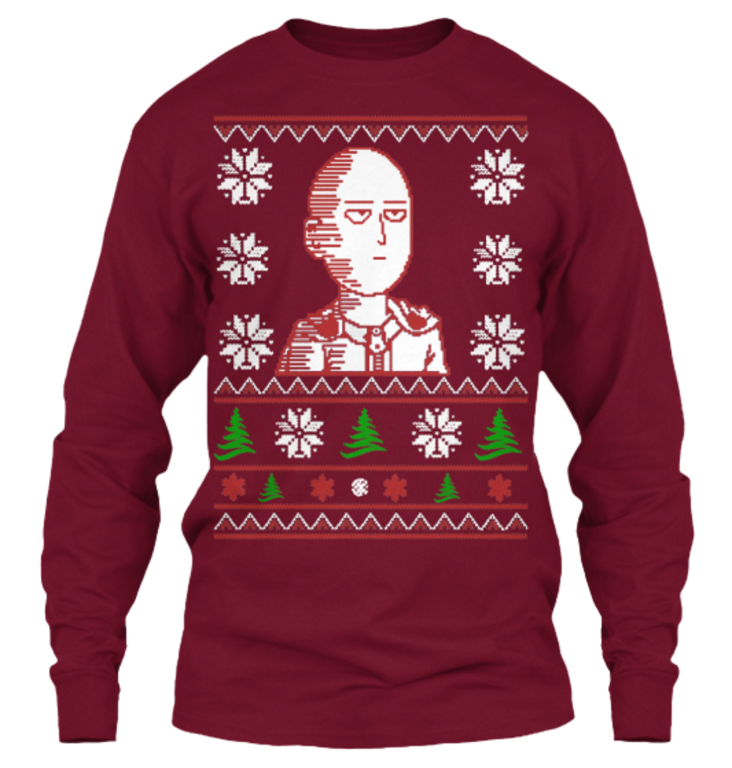 You Can Be an S Rank Hero with This New Saitama Christmas Sweater 3
