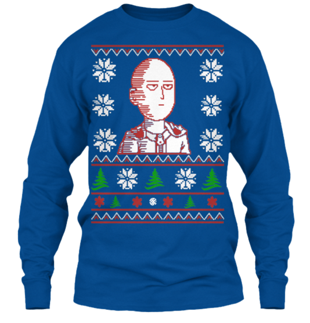You Can Be an S Rank Hero with This New Saitama Christmas Sweater 7
