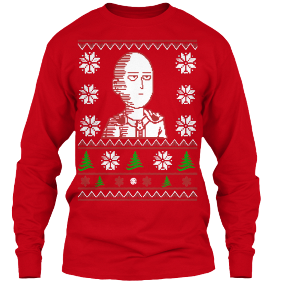 You Can Be an S Rank Hero with This New Saitama Christmas Sweater 8