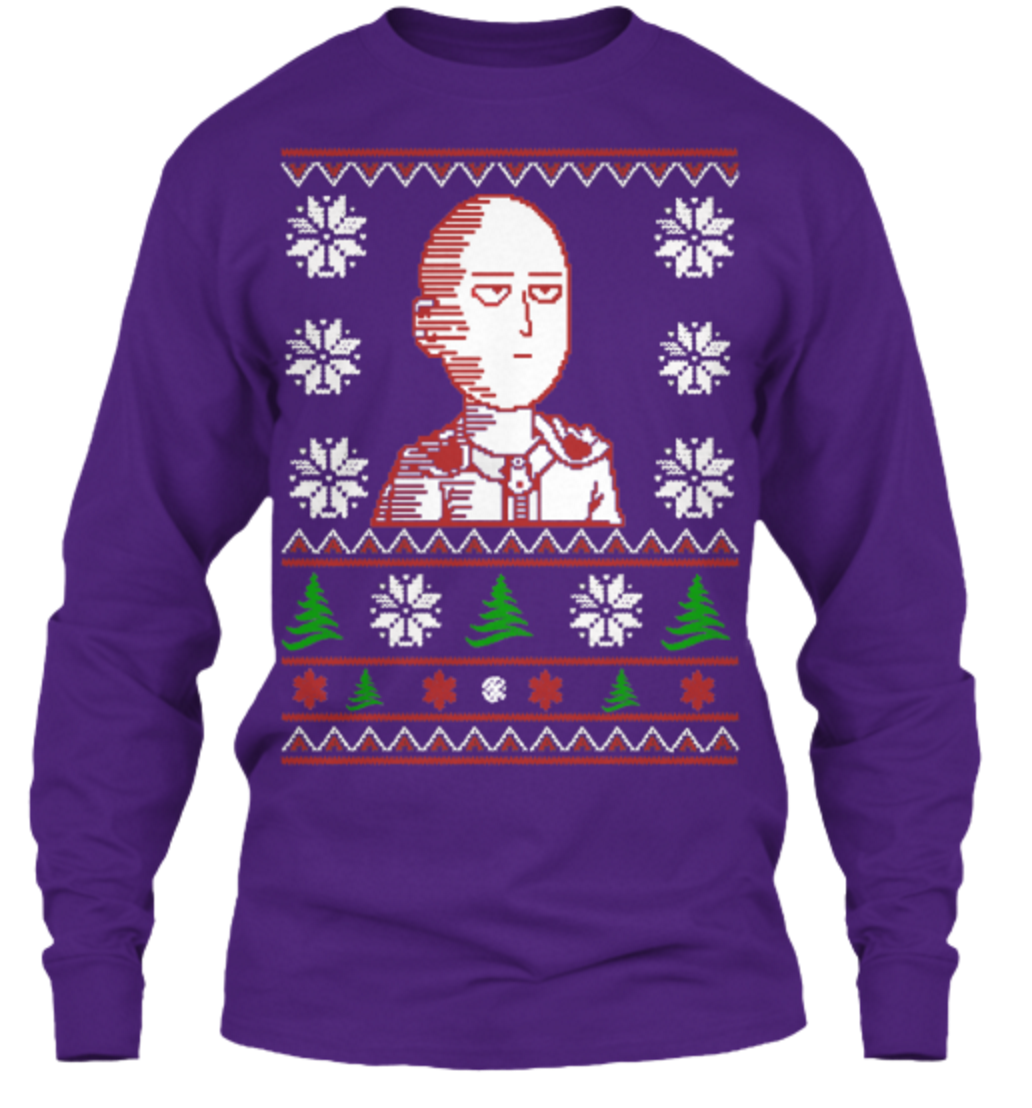 You Can Be an S Rank Hero with This New Saitama Christmas Sweater 9