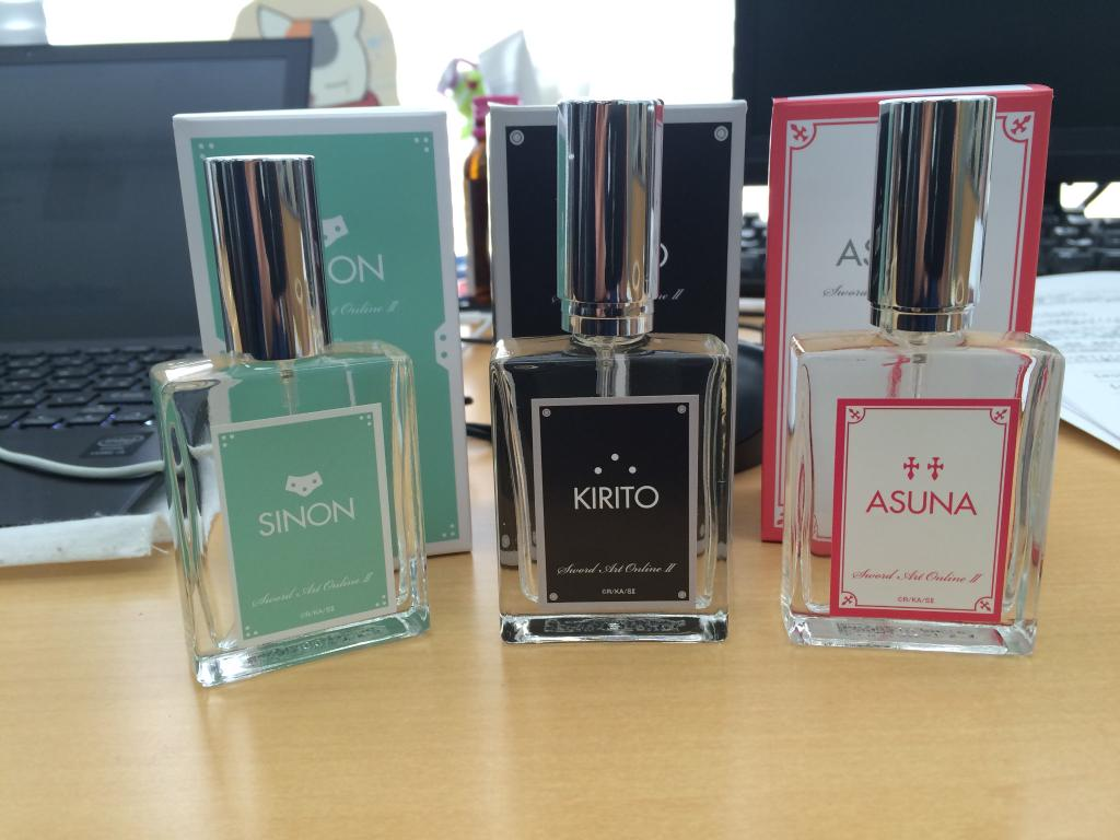 You Can Now Smell like Your Favorite Sword Art Online Characters haruhichan.com sword art online kirito sinon and asuna perfume