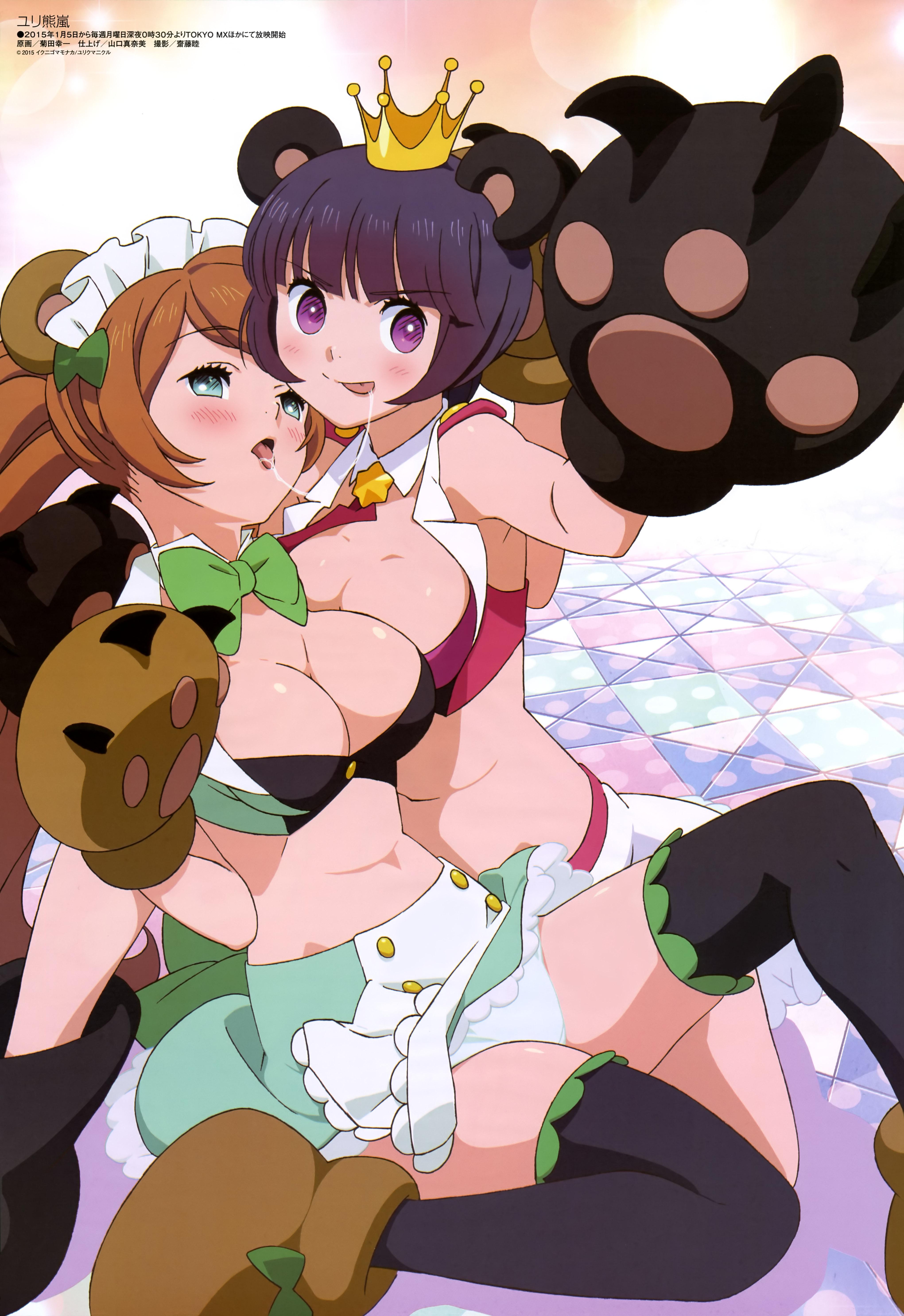 Yuri Kuma Arashi Haruhichan.com Megami MAGAZINE February 2015 anime posters
