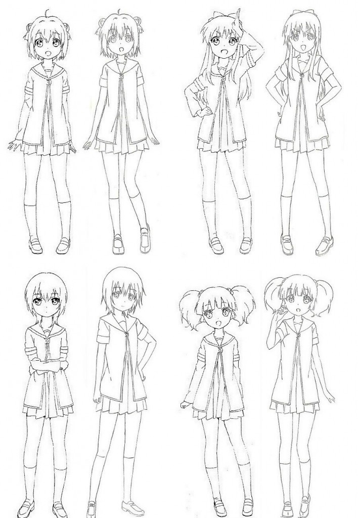 YuruYuri-Nachuyachumi-Character-Designs-1
