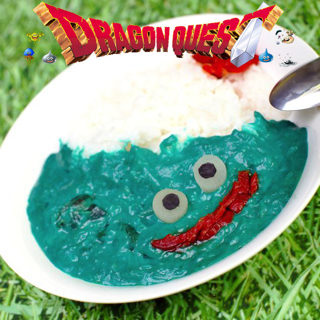 blue slime curry inspired by Dragon Quest haruhichan.com anime video games 6