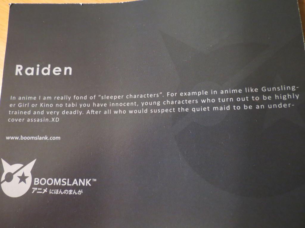 haruhichan.com Shirt Review Raiden from Boomslank.com Info paper