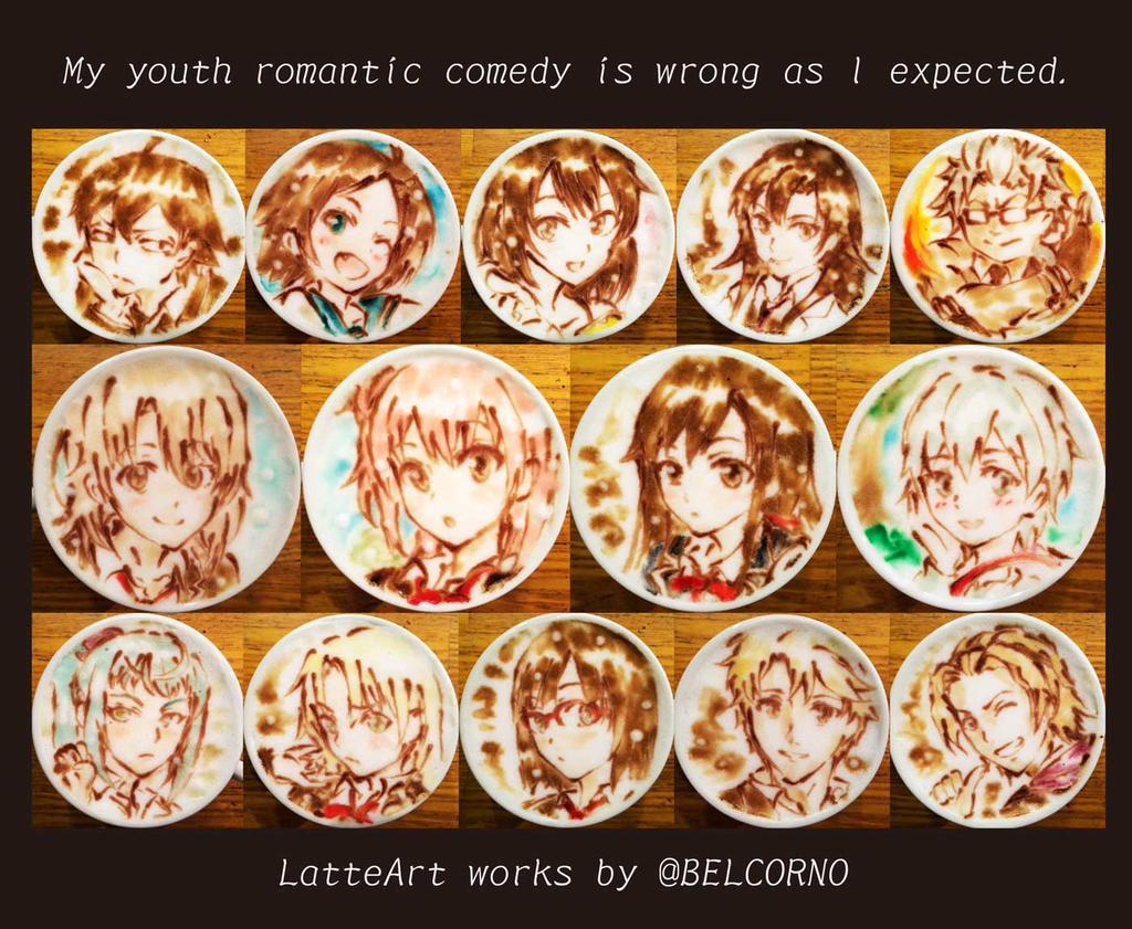 oregairu 2 latte art